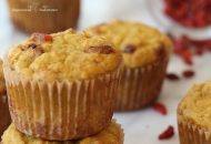 Paleo Parsnip Muffins with Orange + Goji Berries