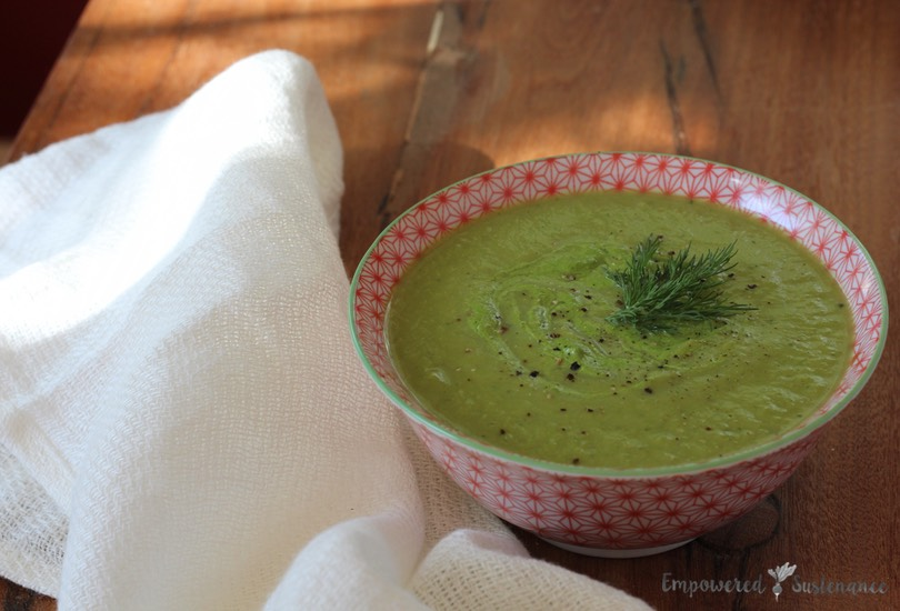 Healing green spring soup - packed with restorative nutrients and veggies