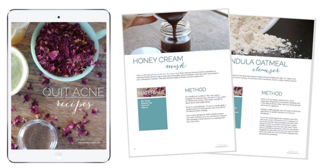 quit acne recipes spread