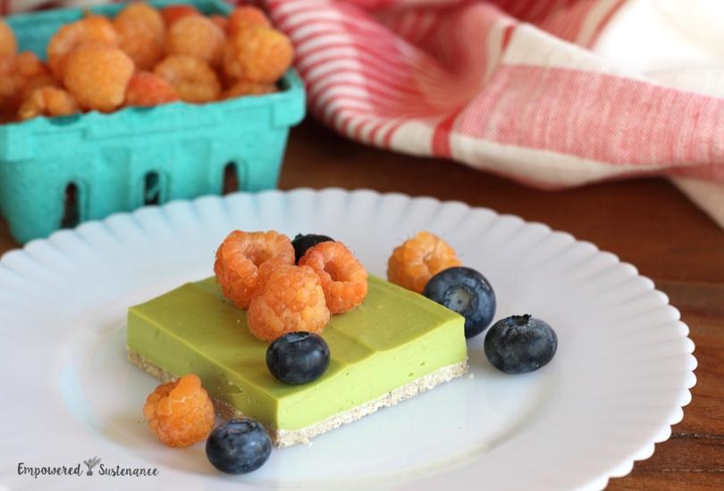 No Bake Paleo Lime Bars recipe