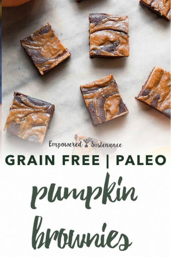 image of palo pumpkin brownies