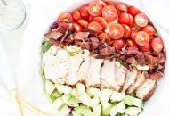 Turkey BLT Salad with Dairy Free Ranch Dressing