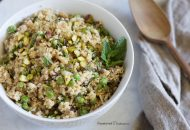 Cauliflower Rice Pilaf with Mint and Peas