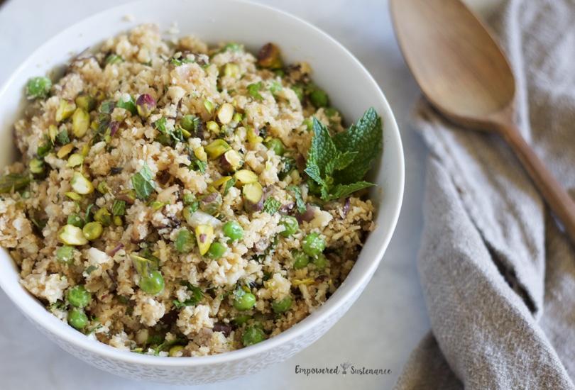 Cauliflower pilaf recipe | Empowered Sustenance