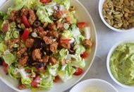 Paleo Taco Salad with Dairy Free Ranch
