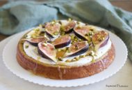 Flourless Cardamom Cake with Figs and Pistachios