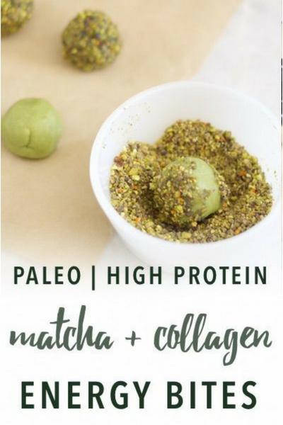 image of matcha & collagen energy bites