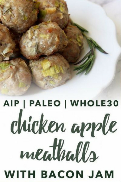 image of paleo chicken apple meatballs
