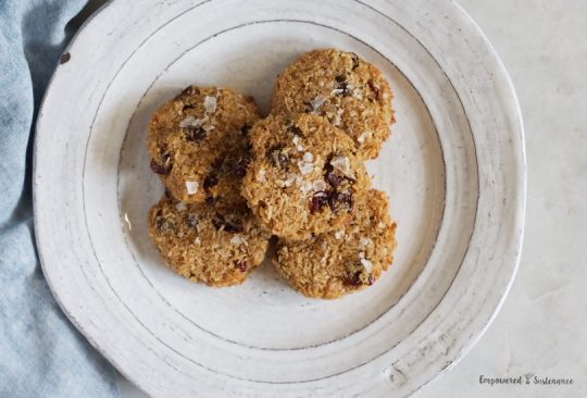 Paleo Coconut, Cranberry and Cardamom Cookies
