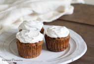 Paleo Carrot Cake Cupcakes with Coconut Flour