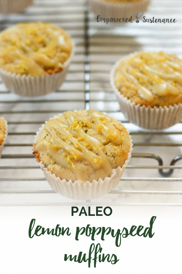 You won't miss the gluten or refined sugar in these vibrant Paleo Lemon Poppyseed Muffins, that are refined sugar free, gluten-free, dairy free and nut free. This muffin recipe uses grain free cassava flour to create a light and fluffy muffin. #paleobreakfast #cassavaflour #healthy #glutenfree #paleodiet #paleorecipe #paleosnack #dairyfree #eggfree #sugarfree #nutfree #glutenfree
