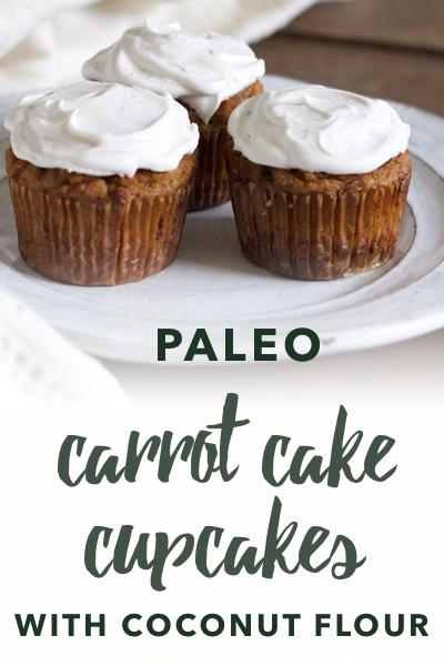 image of paleo carrot cake cupcakes