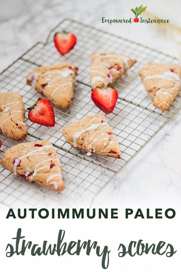 Photo of autoimmune paleo scones with strawberries