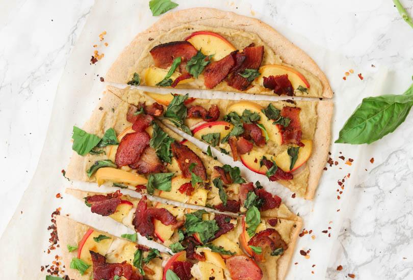 Image of Peach and Bacon Paleo Flatbread