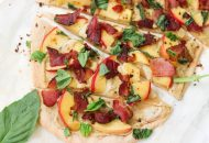 Peach and Bacon Paleo Flatbread