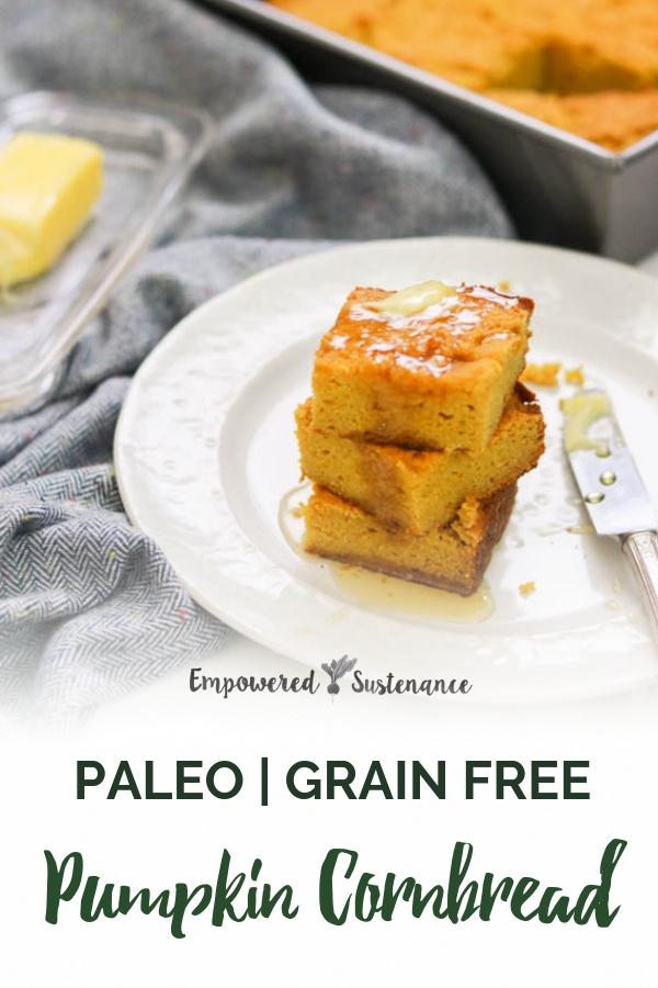 image of paleo pumpkin cornbread
