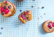 Flourless Cranberry Chocolate Muffins (Paleo)