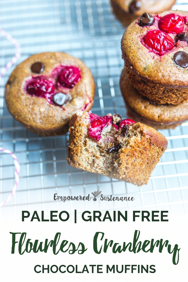 image of palo flourless cranberry chocolate muffins