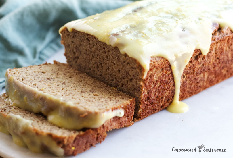Coconut Flour Banana Bread With Citrus Glaze