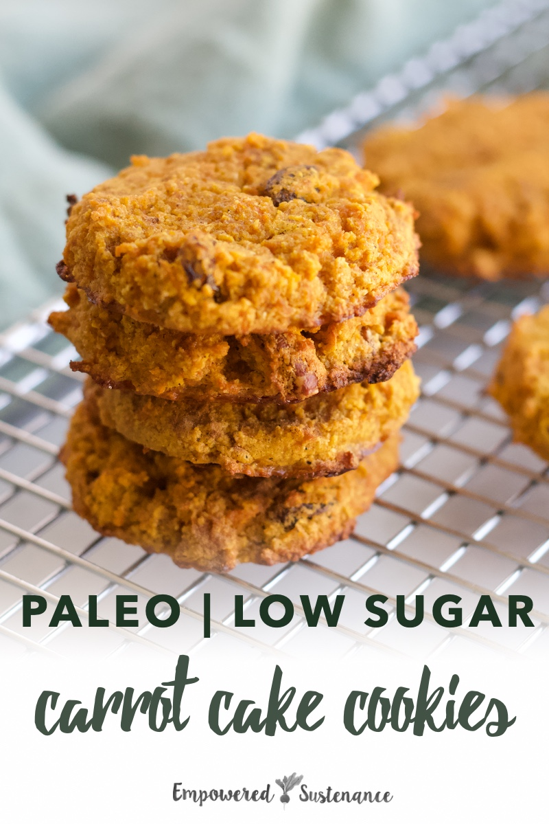 image of paleo carrot cake cookies