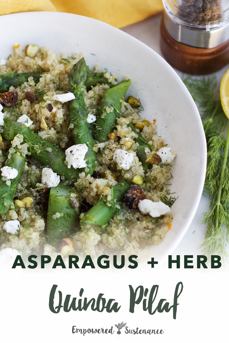 image of Asparagus and herb quinoa pilaf