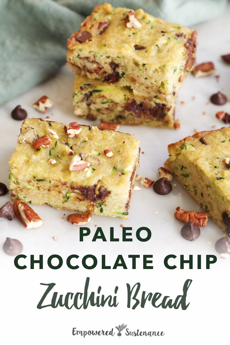 image of paleo chocolate chip zucchini bread
